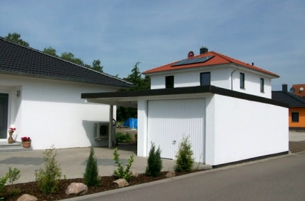 Fertiggarage mit carport  Garagenbau, Fertiggaragen im Garagenbausatz & Carportbausatz